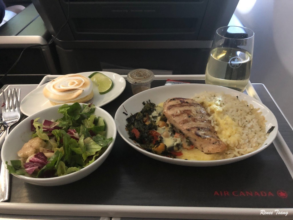 Air Canada business class meal